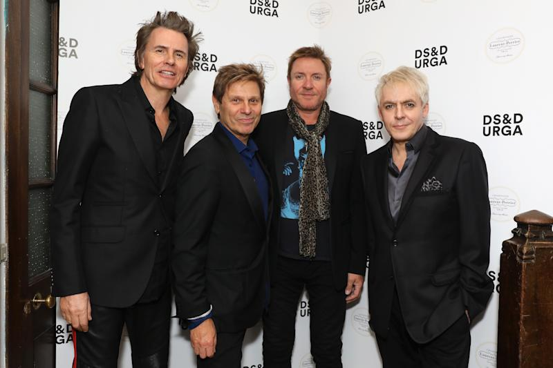 John Taylor, Roger Taylor, Simon Le Bon, and Nick Rhodes at their fragrance launch in 2018. (Photo: Dave Benett/Getty Images for Lib)