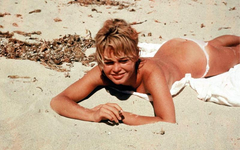 Legendary French actress Brigitte Bardot was known for only wearing bikini bottoms - Rex Features