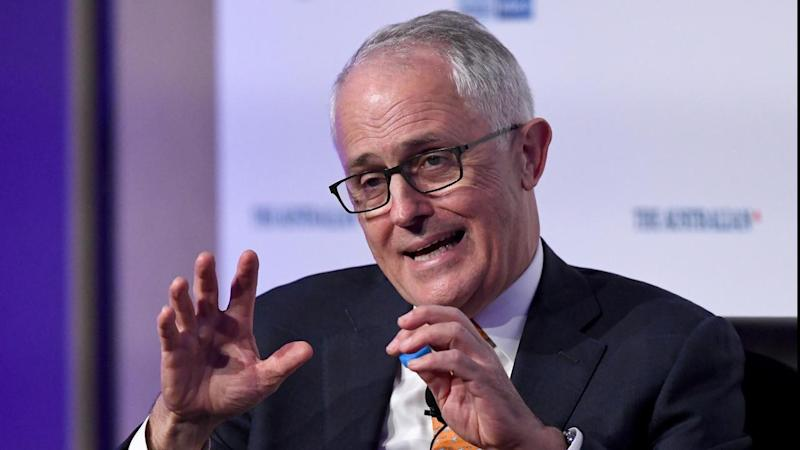 Prime Minister Malcolm Turnbull has urged his MPs to talk up the government's achievements.
