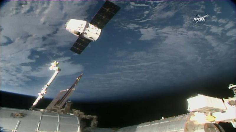 SpaceX CRS-13 Dragon Capsule Leaves Space Station