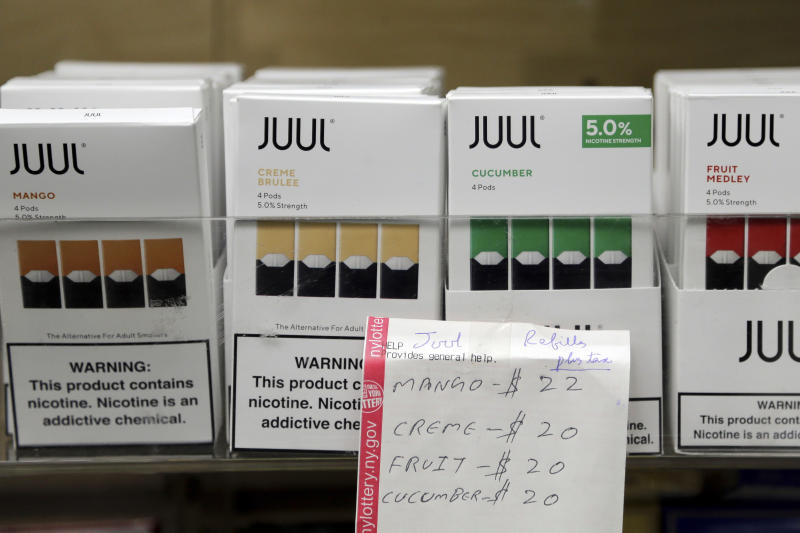 E-cigarette maker Juul is in hot water for its marketing tactics, which a new lawsuit alleges led to the death of an 18-year-old in Florida. (Photo: AP/Seth Wenig)