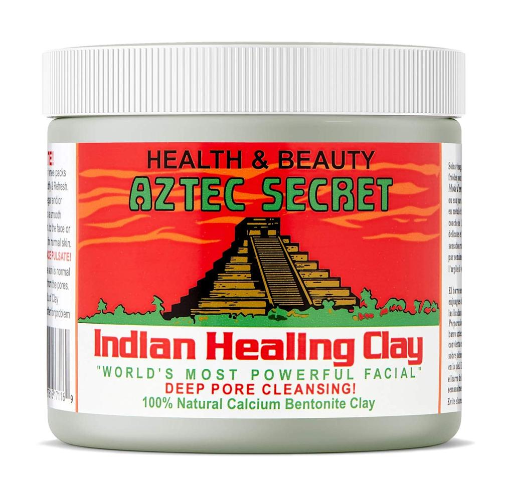 """<p>The <a href=""""https://www.popsugar.com/buy/Aztec-Secret-Indian-Healing-Clay-578683?p_name=Aztec%20Secret%20Indian%20Healing%20Clay&retailer=amazon.com&pid=578683&price=13&evar1=bella%3Aus&evar9=46211171&evar98=https%3A%2F%2Fwww.popsugar.com%2Fphoto-gallery%2F46211171%2Fimage%2F46211249%2FAztec-Secret-Indian-Healing-Clay&list1=shopping%2Camazon%2Cbeauty%20products%2Cacne%2Cbeauty%20shopping%2Cskin%20care%2Czit%20happens&prop13=api&pdata=1"""" rel=""""nofollow"""" data-shoppable-link=""""1"""" target=""""_blank"""" class=""""ga-track"""" data-ga-category=""""Related"""" data-ga-label=""""https://www.amazon.com/Aztec-Secret-Cleansing-Original-Bentonite/dp/B00S7ZPB8Q/ref=sr_1_3?dchild=1&amp;keywords=Aztec+Secret+Indian+Healing+Clay&amp;qid=1590948370&amp;sr=8-3"""" data-ga-action=""""In-Line Links"""">Aztec Secret Indian Healing Clay</a> ($13) has a tried-and-true formula that has worked for countless people with acne-prone skin. The mask is made with 100 percent natural calcium bentonite, which is a green clay that's incredibly absorbent. More than 15,000 customers have reviewed the product, and 70 percent of users give it five stars. That's a pretty spectacular reputation.</p> <p>I tried the mask myself and was very pleased with the results. When you open the jar, you will find a powdered clay that you mix with equal parts apple cider vinegar or water - it's up to you. Many customers claim that the vinegar will give you more effective results. You stir until you get a thick yet smooth paste that you can put on your face with your fingers or a brush. Allow the mask to dry. Here's the important part: if you have sensitive skin, only leave it on for five minutes. Any longer and you may experience irritation. If you have normal skin, you can leave it on for 15 to 20 minutes. As it dries, you will feel your skin tightening - that's a good thing. Wash it off with warm water once you're finished. You may look a little red after you take the mask off, but that should go away in 15 minutes or so.</p> <p>I used the mask"""