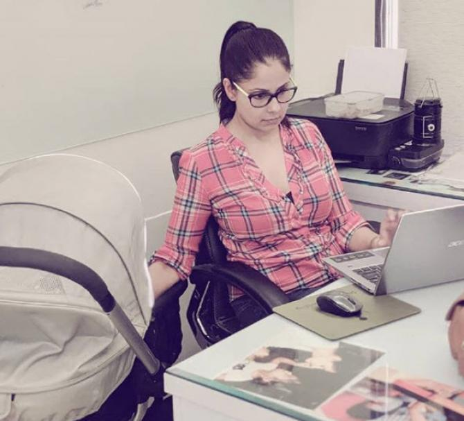 Chhavi at work