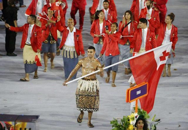 Pita Taufatofua finally qualified for the Olympics after trying since 2004. (Reuters)