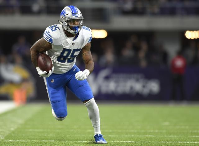 Eric Ebron will pair up with Jack Doyle to give Andrew Luck a potential dynamic tight end tandem to work with in Indianapolis. (Getty Images)