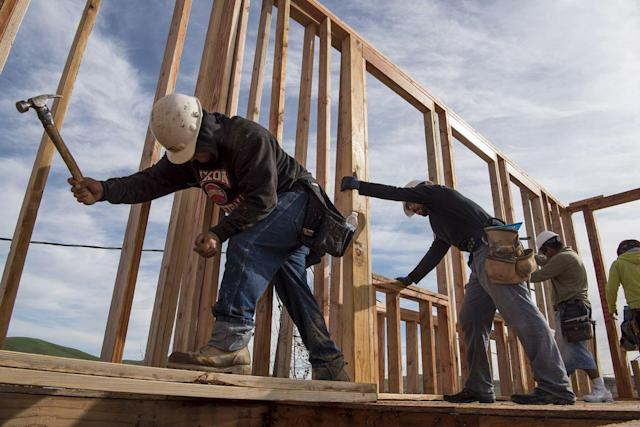 Homebuilders in the U.S. are feeling more confident now than they did at any point during the housing bubble.  Photographer: David Paul Morris/Bloomberg via Getty Images