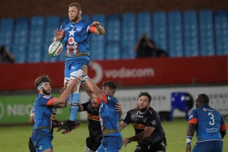 Bulls captain Duane Vermeulen (2L) wins a lineout in a South African Super Rugby Unlocked match against the Stormers in Pretoria last Saturday.