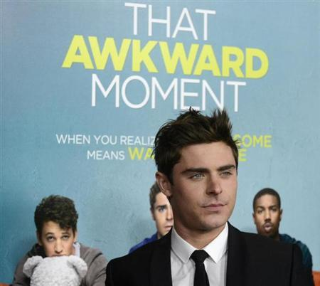 "Zac Efron attends the premiere of the film ""That Awkward Moment"" in Los Angeles"