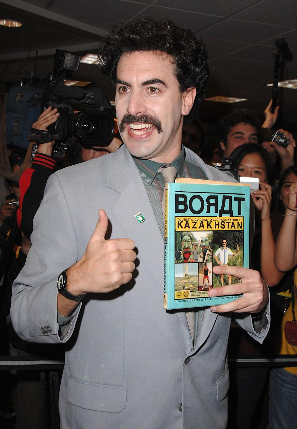 "Sacha Baron Cohen aka ""Borat"" attends his book signing at Borders on November 7, 2007 in Westwood, California. (Photo by Steve Granitz/WireImage) (Photo: Steve Granitz via Getty Images)"