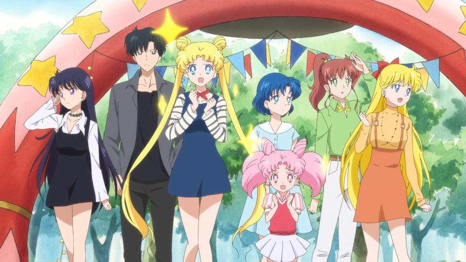 Usagi and friends in Pretty Guardian Sailor Moon Eternal: The Movie (Netflix)