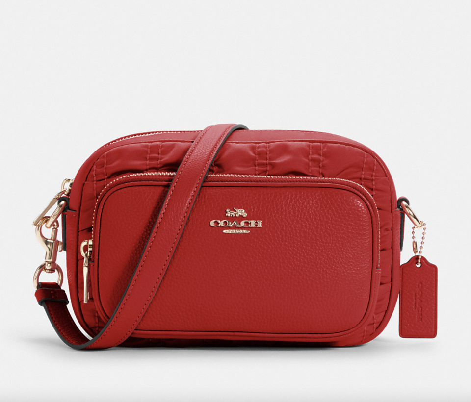 red coach outlet bag Court Crossbody with Ruching