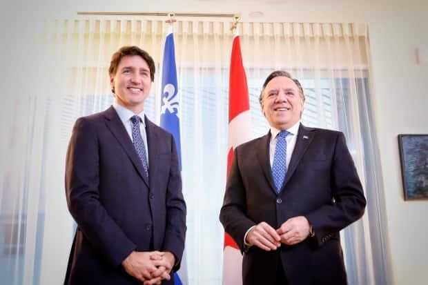In a letter to Prime Minister Justin Trudeau, Quebec Premier François Legault speaks of the merits of his government's proposed language law.   (Ivanoh Demers/Radio-Canada - image credit)