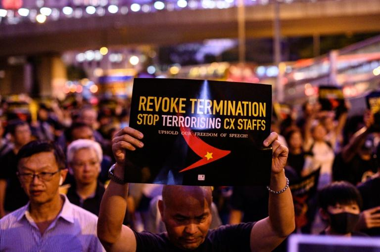 The internal turmoil is a sign of the risks facing Hong Kong businesses as protests grind on (AFP Photo/Philip FONG)