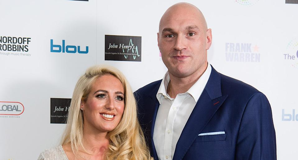 Paris Fury and Tyson Fury attend the Nordoff Robbins Boxing Dinner 2019 on November 18, 2019 in London, England. (Photo by Jeff Spicer/Getty Images)