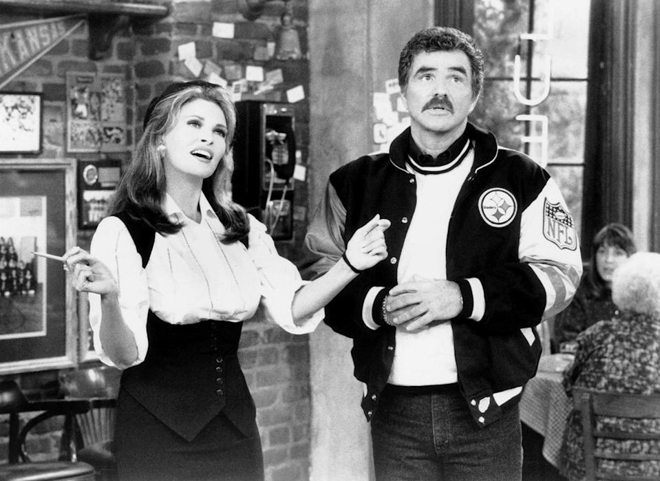 <p>Reynolds returned to TV in 1990 in <em>Evening Shade</em>. He played Wood Newton, a former member of the Pittsburgh Steelers, for four years and nearly 100 episodes. (Photo: CBS/Courtesy: Everett Collection) </p>