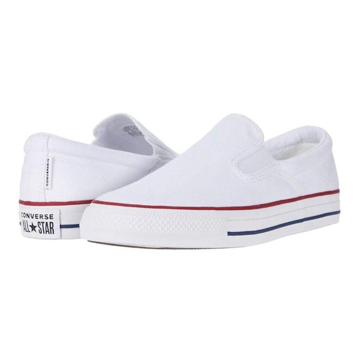 """<p><strong>Converse</strong></p><p>zappos.com</p><p><strong>$49.95</strong></p><p><a href=""""https://go.redirectingat.com?id=74968X1596630&url=https%3A%2F%2Fwww.zappos.com%2Fp%2Fconverse-chuck-taylor-all-star-double-gore-slip-slip-white-garnet-insignia-blue%2Fproduct%2F9362520&sref=https%3A%2F%2Fwww.menshealth.com%2Fstyle%2Fg20087309%2Fmens-slip-on-shoes-summer%2F"""" rel=""""nofollow noopener"""" target=""""_blank"""" data-ylk=""""slk:BUY IT HERE"""" class=""""link rapid-noclick-resp"""">BUY IT HERE</a></p><p>A new white sneaker is always a good choice, and these Converses are a no-brainer. Wear them all summer long. </p>"""