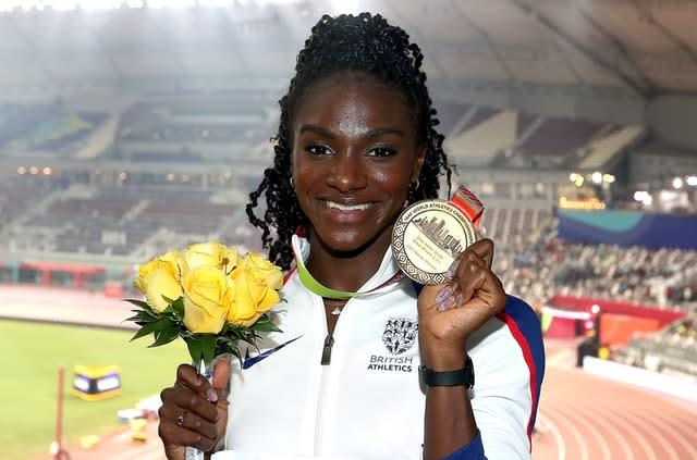 Great Britain's Dina Asher-Smith added 200m gold to her medal haul (Martin Rickett/PA)