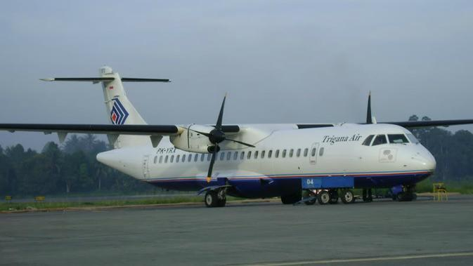Ilustrasi pesawat Trigana Air ATR 42. (indoflyer.net)