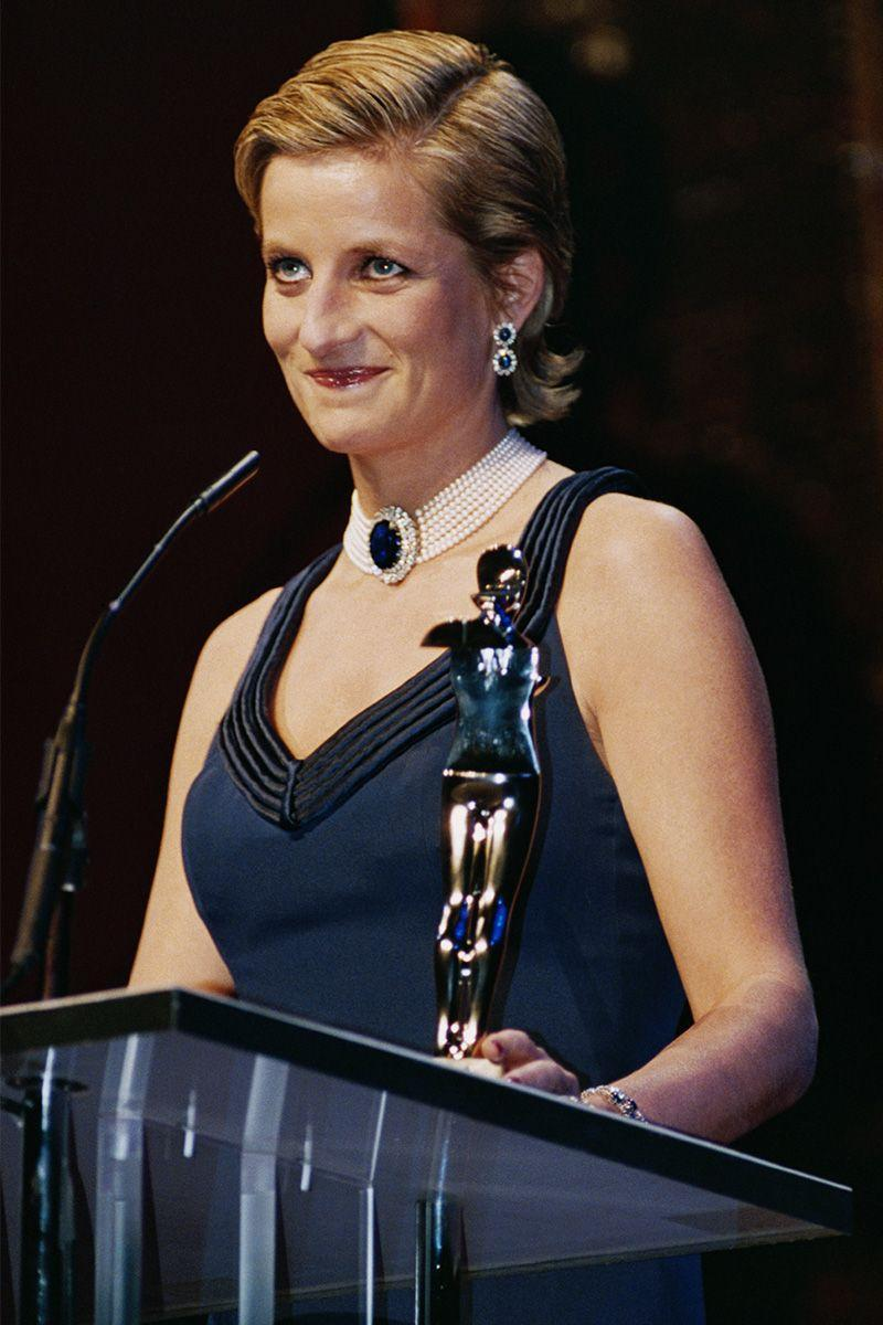 <p>With a slicked back hair flip while making a speech at The Council of Fashion Designers of America Ball in New York. </p>