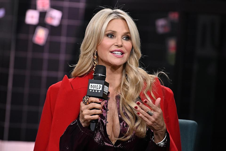 Christie Brinkley visits Build Series to discuss the Milestones of Me campaign to encourage women to celebrate life's milestones at Build Studio on Jan. 29, in New York City. (Photo: Slaven Vlasic/Getty Images)