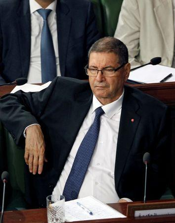 Tunisia's Prime Minister Habib Essid attends a plenary session at the Assembly of People's Representatives in Tunis, Tunisia, July 30 ,2016. REUTERS/Zoubeir Souissi