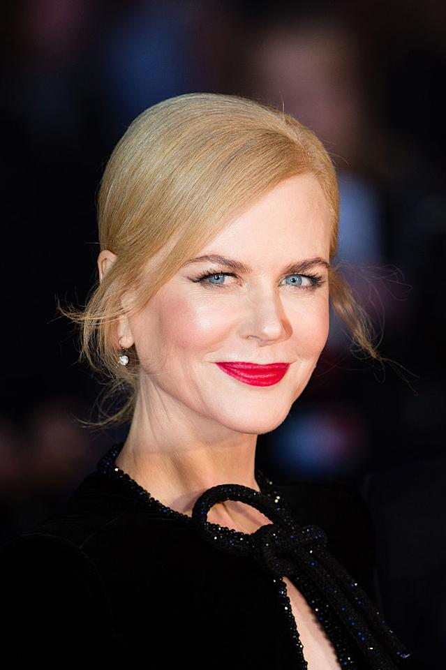 <p>You could tell us that Nicole Kidman's glow is coming from an invisible halo and we'd believe you. The Australian actress was all aglow at the <i>Lion</i> screening during the BFI London Film Festival. Winged eyeliner and bright red lipstick add the finishing touch. (Photo: Jeff Spicer/Getty Images) </p>