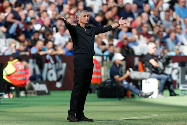 Jose Mourinho looked frustrated and helpless as Manchester United struggled at West Ham. But he bears as much blame as anybody. (Getty)