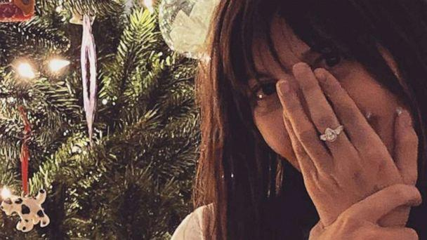 PHOTO: A photo posted to Aja Volkman's Instagram account on Dec. 25, 2019, shows her posing for a picture while wearing an engagement ring. (Aja Volkman/Instagram)