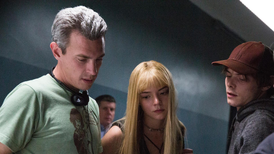 Director Josh Boone, Anya Taylor-Joy and Charlie Heaton on the set of 'The New Mutants'. (Credit: Claire Folger/20th Century Studios)