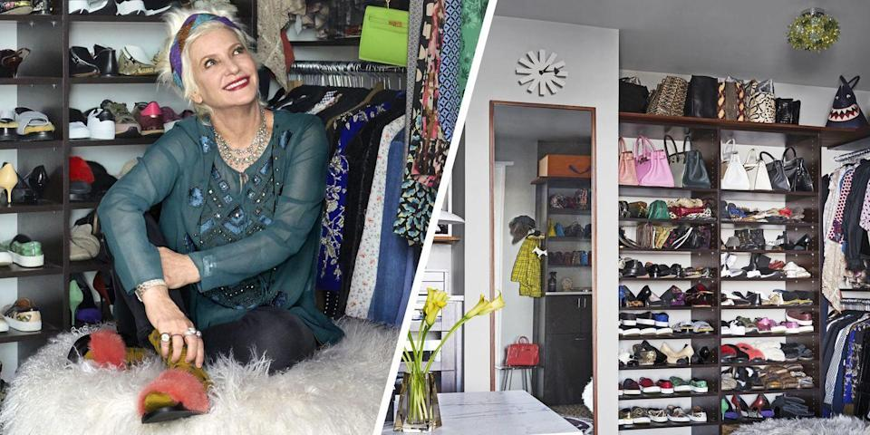 "<p>Stylist to the stars Lori Goldstein knows exactly what's needed in a <a href=""https://www.elledecor.com/celebrity-style/celebrity-homes/a22606279/lori-goldstein-closet/"" rel=""nofollow noopener"" target=""_blank"" data-ylk=""slk:custom closet"" class=""link rapid-noclick-resp"">custom closet</a>. Goldstein enlisted interior designer Joe D'Urso and worked with California Closets to craft a hyper-organized space to house her impressive collection of clothes, shoes, designer handbags, and jewelry. Highlights of the space include built-in drawers topped with white marble, wall-to-wall leopard carpeting, and a gorgeous pouf.<br></p>"