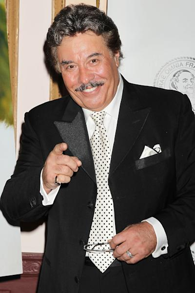 """FILE - This June 6, 2011 file photo provided by Starpix shows singer Tony Orlando at the Friars Club Foundation Applause Gala in New York. Sixty-eight-year-old Orlando said in a recent interview that the idea to cast him in the film, """"That's My Boy,"""" which opens Friday, came about after running into Adam Sandler at a birthday party for a mutual friend. Two days later Sandler called him up asking if he'd want to appear in his next film. (AP Photo/Dave Allocca, StarPix)"""
