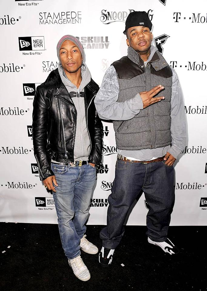 "N.E.R.D. frontman Pharrell Williams and rapper The Game were just a few of the musicians who came on stage to duet with Snoop. Michael Kovac/<a href=""http://www.filmmagic.com/"" target=""new"">FilmMagic.com</a> - December 8, 2009"