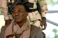 FILE PHOTO: Chad President Deby watches rally in N'Djamena