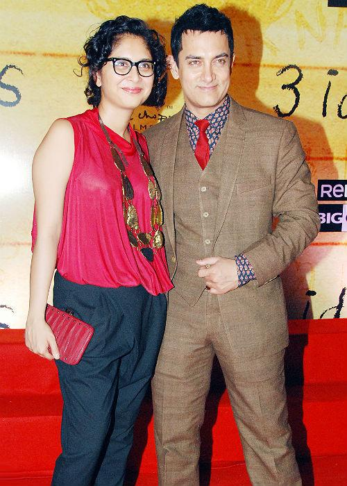 <b>2. Aamir Khan-Kiran Rao</b><br><br>'Mr. Perfectionist' of Bollywood Aamir Khan has also married twice. He was married to his childhood love interest Reena for 15 long years from 1987 to 2002. Reena and Aamir also have two children, Junaid and Ira. Later he married Kiran Rao, the assistant director of his film Lagaan in 2005. Kiran and Aamir have a son- Azad.