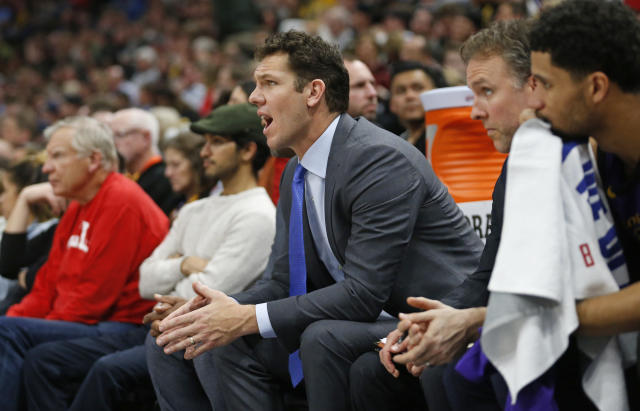Things haven't been going well for Luke Walton and the Lakers lately. (AP Photo)