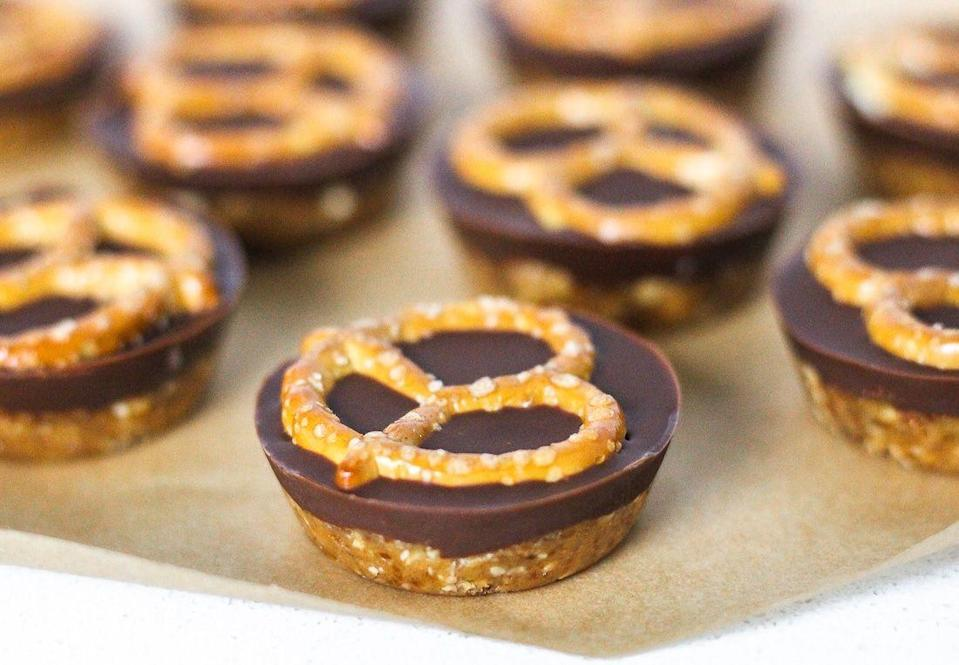 """<p>Dates make these candy bites (and loads of other no-bake desserts) sweet and satisfying, because they provide some fiber.<br></p><p><a class=""""link rapid-noclick-resp"""" href=""""https://shapedbycharlotte.com/healthy-homemade-take-5-candy/"""" rel=""""nofollow noopener"""" target=""""_blank"""" data-ylk=""""slk:GET THE RECIPE"""">GET THE RECIPE</a></p><p><em>Per serving: 180 calories, 9 g fat (3 g saturated), 20 g carbs, 107 mg sodium, 13.5 g sugar, 5 g fiber, 5 g protein</em></p>"""