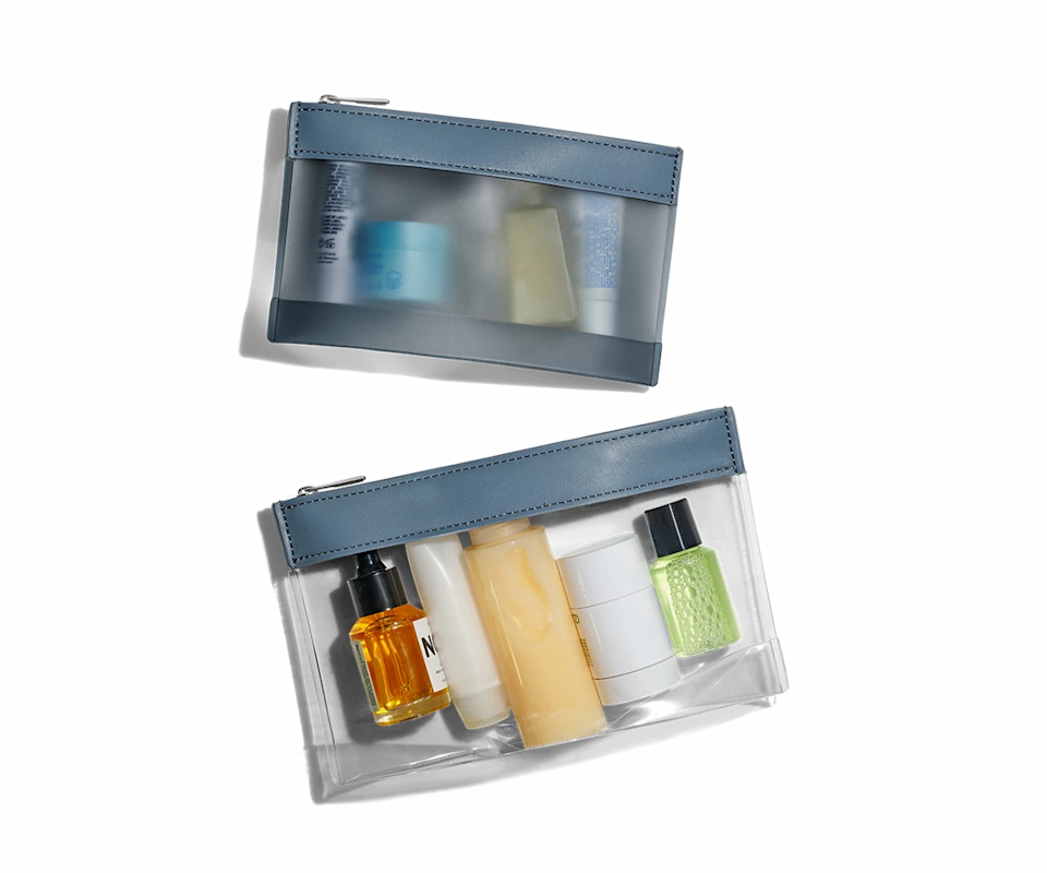 The Clear Pouch Set. Image via Away