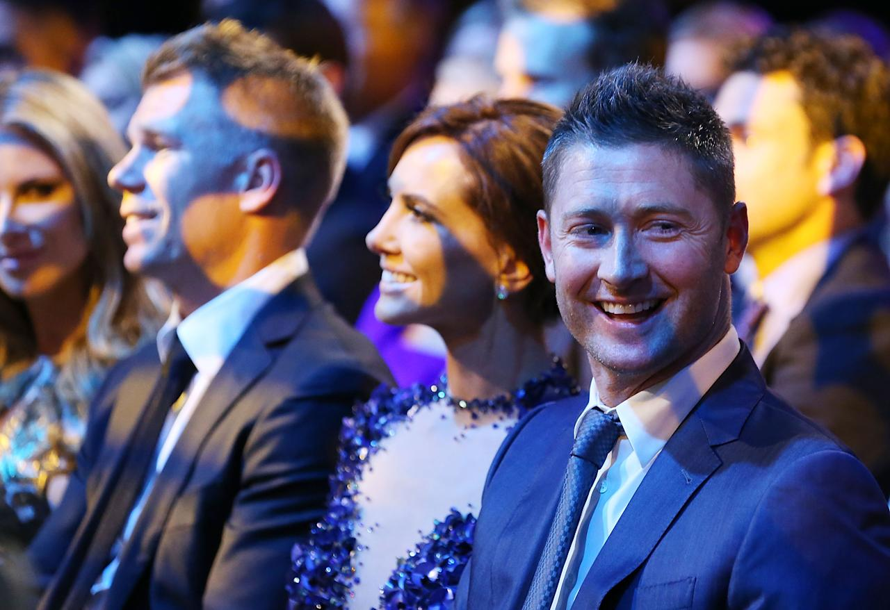 SYDNEY, AUSTRALIA - JANUARY 20:  Michael Clarke smiles during the 2014 Allan Border Medal at Doltone House on January 20, 2014 in Sydney, Australia.  (Photo by Mark Metcalfe/Getty Images)