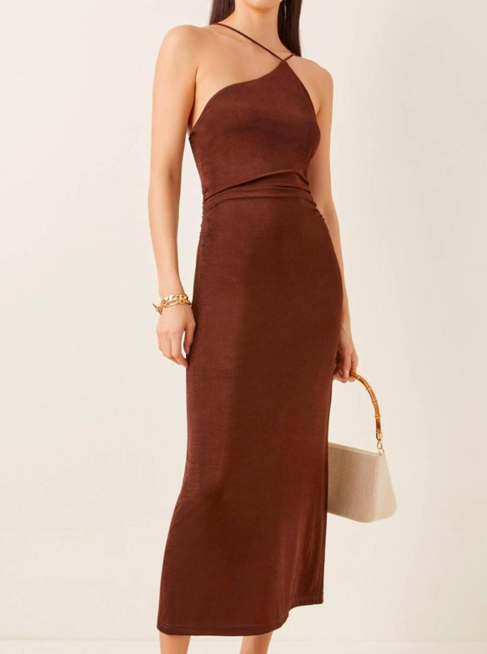 """Understated yet chic as hell, this one comes with bonus points for the toasty <a href=""""https://www.glamour.com/gallery/brown-neutral-trend?mbid=synd_yahoo_rss"""" rel=""""nofollow noopener"""" target=""""_blank"""" data-ylk=""""slk:brown hue"""" class=""""link rapid-noclick-resp"""">brown hue</a>. $175, Moda Operandi. <a href=""""https://www.modaoperandi.com/women/p/significant-other/bella-dress/477595"""" rel=""""nofollow noopener"""" target=""""_blank"""" data-ylk=""""slk:Get it now!"""" class=""""link rapid-noclick-resp"""">Get it now!</a>"""