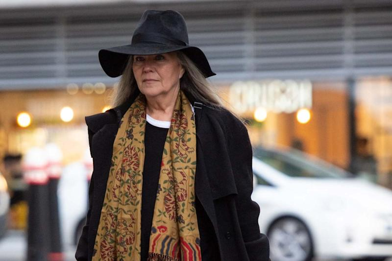 Dispute: Koo Stark outside court: PA
