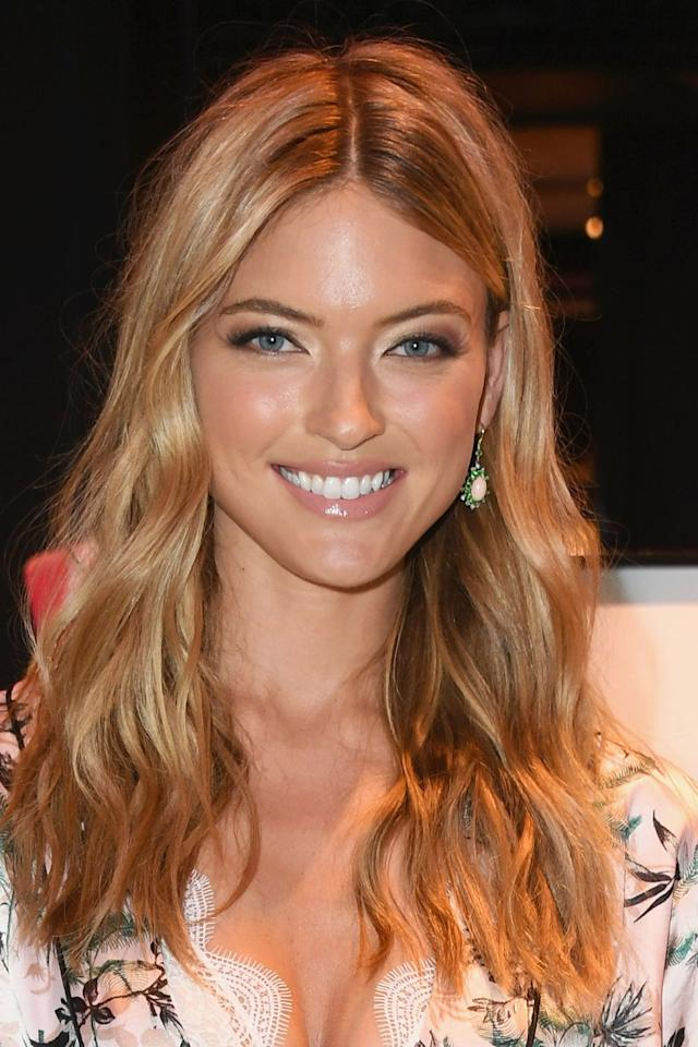 "<p>Victoria's Secret Angels like Martha Hunt are renowned for their fresh, glowing skin and their secret lies in their <a rel=""nofollow"" href=""https://www.harpersbazaar.com/uk/beauty/g38262/beauty-tips-from-victorias-secret-angels/"">skincare routines</a>. To achieve similar results, use an exfoliator such as Alpha H's <a rel=""nofollow"" href=""https://www.cultbeauty.co.uk/alpha-h-liquid-gold-night-treatment-serum.html?gclid=Cj0KCQjw6J7YBRC4ARIsAJMXXscXFQiBr8w3-PouTTiQX1ctX5Cy5nlgnVK7PhfJPhD7EWB2ylYQzv4aApqmEALw_wcB&ef_id=WszTdAAAAvpSTBN_:20180525105654:s"">Liquid Gold</a>, £33.50, or Glossier's <a rel=""nofollow"" href=""https://www.glossier.com/products/solution?locale=en-GB&gclid=Cj0KCQjw6J7YBRC4ARIsAJMXXsfyXkAdL7iYUe8O1qS3MuXuWUsyjnaW-xIyR7k3fVbtyT4YjGBuTR0aAjkLEALw_wcB"">Solution</a>, £19, followed by a hydrating serum like La Roche Posay's <a rel=""nofollow"" href=""https://www.laroche-posay.co.uk/hyalu-b5-hyaluronic-acid-serum"">Hyalu B5</a>, £27.75. Then, for an extra boost of radiance, use Oskia's <a rel=""nofollow"" href=""http://www.spacenk.com/uk/en_GB/skincare/treatment/serums/get-up-glow-UK200017065.html?cm_mmc=PPC%7cGoogle%7cUK-_-Shopping-_-Brands%7cAll+Products-_-All+Products&gclid=Cj0KCQjw6J7YBRC4ARIsAJMXXsftJ1vApzORpYRYHlH0VexEmsc91htsNQeBgc5oihkBnSgenDeLHH4aAn9gEALw_wcB&gclsrc=aw.ds"">Get Up & Glow</a> highlighter, £68.50, as part of your make-up regime. </p>"