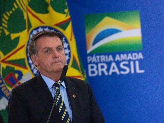 Brazil President Jair Bolsonaro has been criticised over his handling of the pandemic (Getty Images)