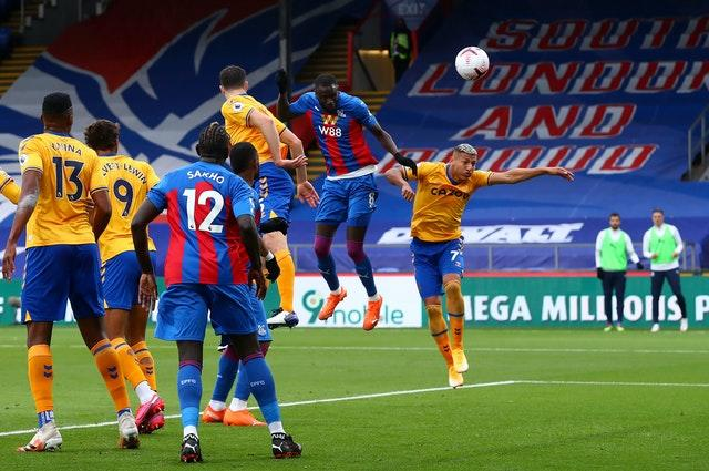 A towering header from Cheikhou Kouyate had levelled things up at Selhurst Park