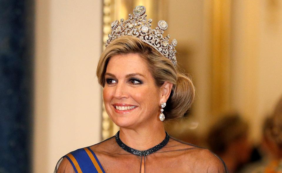 Queen Maxima at the State Banquet (Getty)