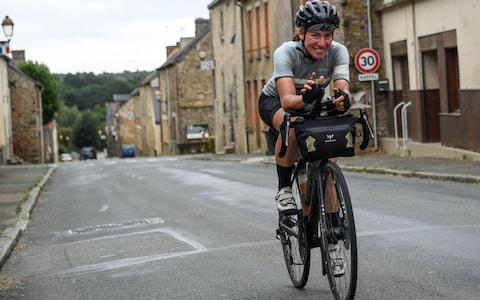 <span>Ultra-distance cyclists are entirely self-supported. They must carry everything with them on their bikes</span> <span>Credit: AFP </span>