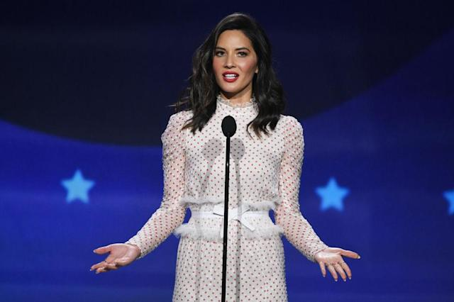 Olivia Munn rocked four different looks at the Critics' Choice Awards. (Photo: Getty Images)