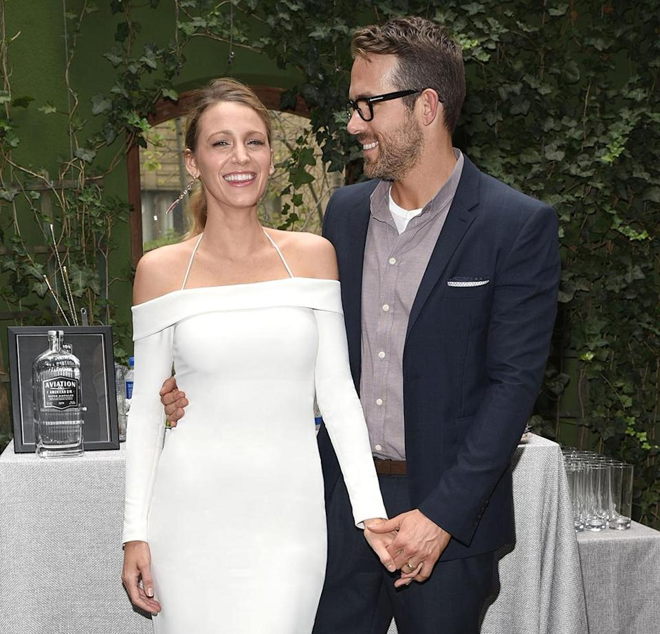Blake Lively and Ryan Reynolds teamed up in support of Aviation Gin. (Photo: Michael Simon/startraksphoto.com)