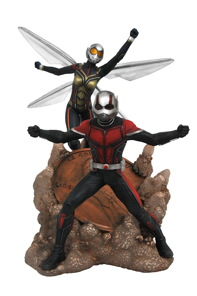 <p>Marvel's smallest heroes make a big impact in this dynamic diorama duo, featuring 9-inch scale figures of both pint-sized crimefighters. $100 for both figures. (Photo: Diamond Select Toys) </p>