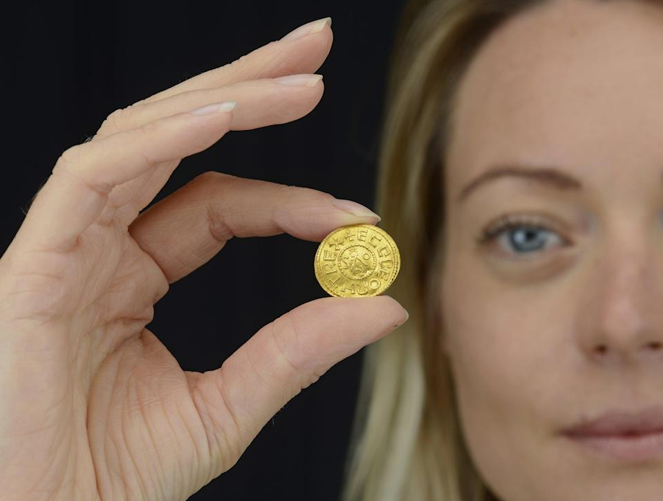 An Anglo-Saxon coin which is set to fetch up to £200,000 at auction (Dix Noonan Webb/PA) (PA Media)