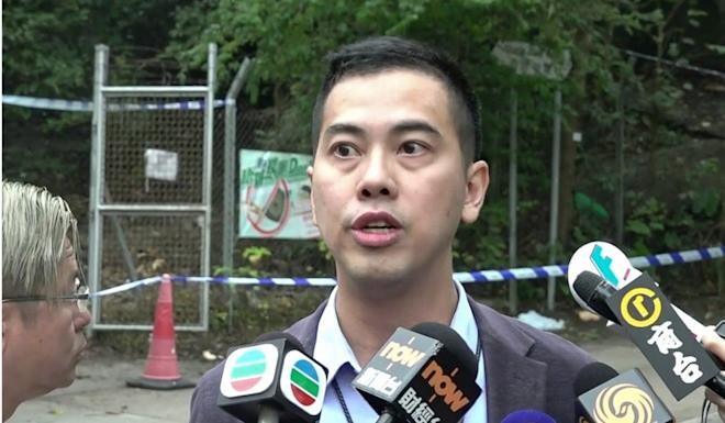 Chief Inspector Wong Yi-wai says petrol bombs are treated as offensive weapons. Photo: RTHK
